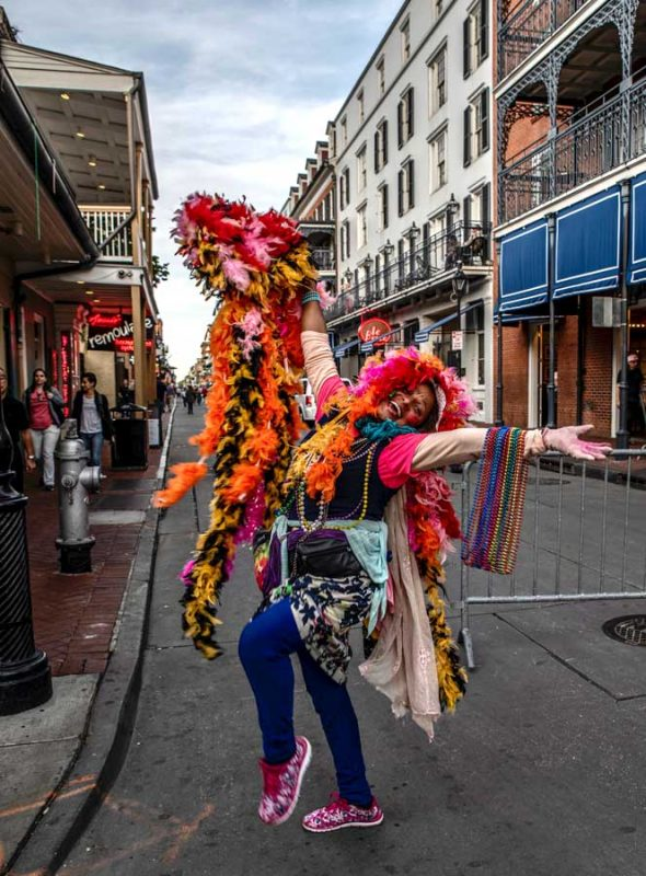 Woman celebrating on a food tour in New Orleans